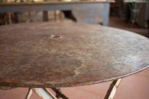 Antique French Folding Bistro Garden Table