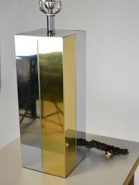 Mid-Century Modern Chrome and Brass Lamp For Sale at 1stdibs