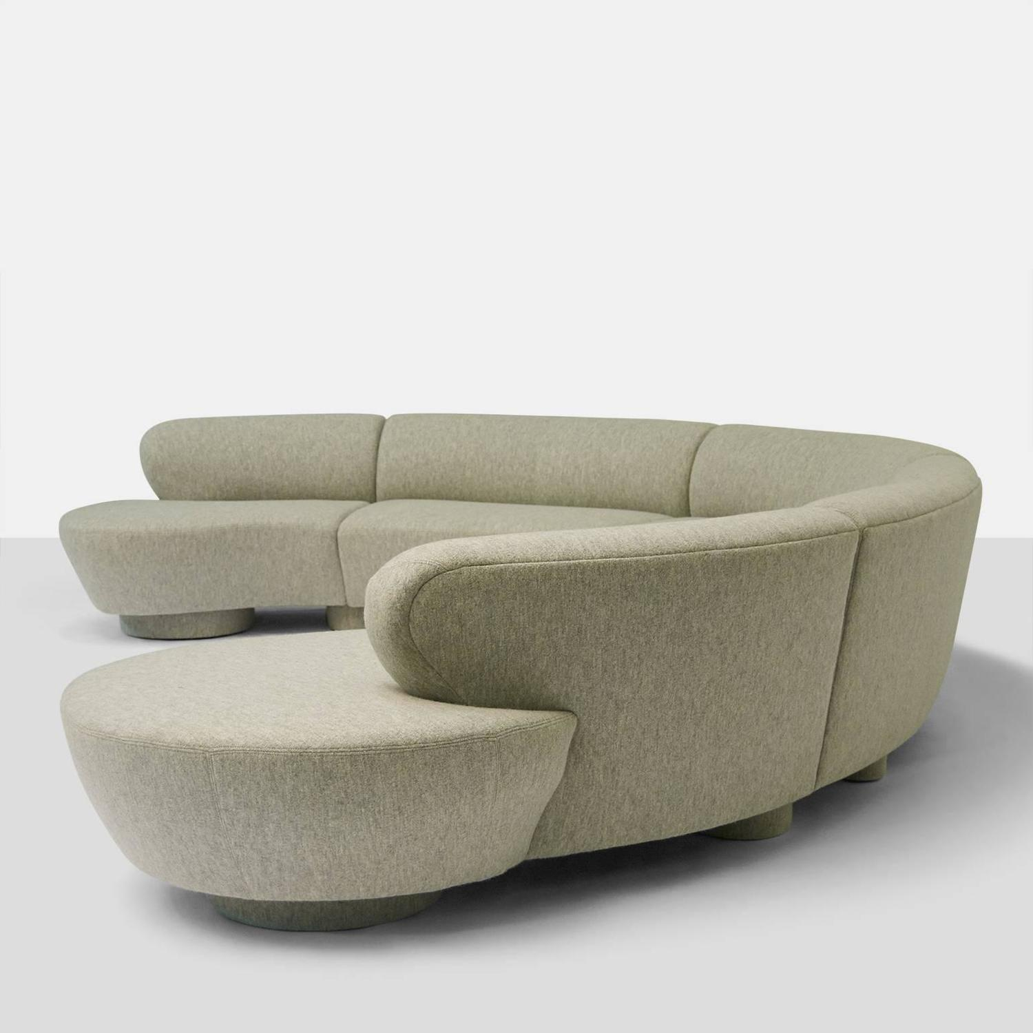 cloud sofa for sale wooden bed designs pictures vladimir kagan sectional at 1stdibs