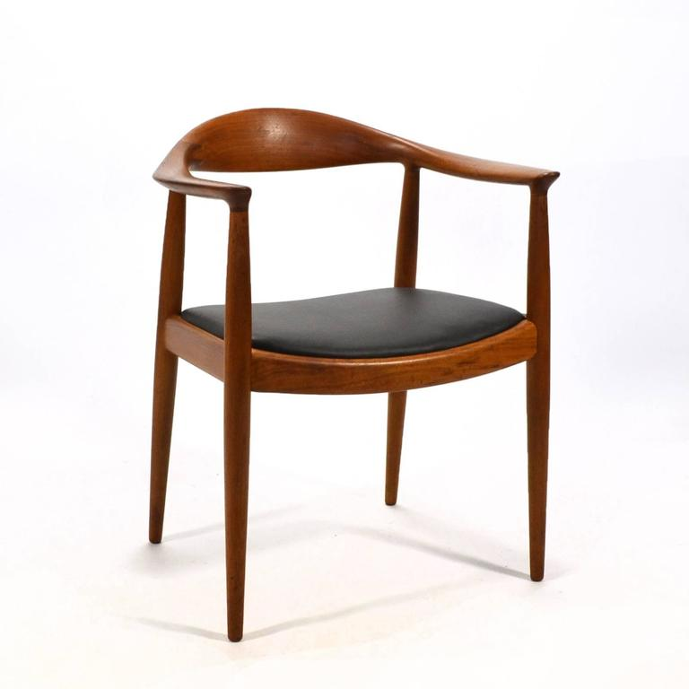 the chair vanity with back hans wegner round by johannes hansen for sale at 1stdibs arguably most important and best realized of s chairs or