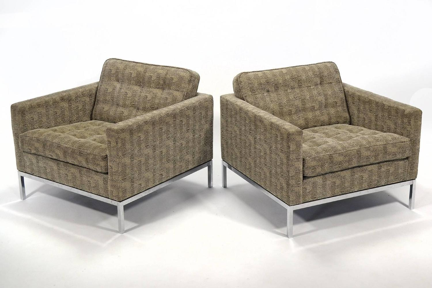 Tuxedo Chair Florence Knoll Tuxedo Lounge Chair Pair For Sale At 1stdibs