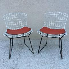 Breuer Chairs For Sale Arm Chair Covers Recliners Set Of Harry Bertoia Childs Chairs, Original Knoll Orange Seat Pads At 1stdibs
