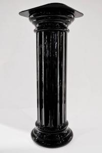 1960s Rare Pair of Italian Art Deco Black Glass Round ...