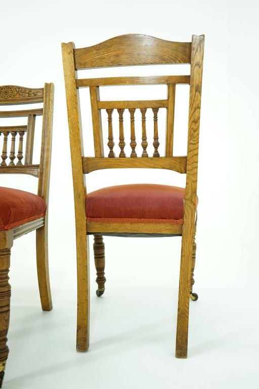 antique oak dining chairs stair for the elderly sale at 1stdibs scottish