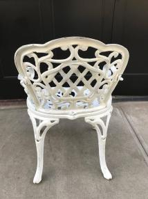 Set Of Four Early Cast Iron Garden Chairs 1stdibs