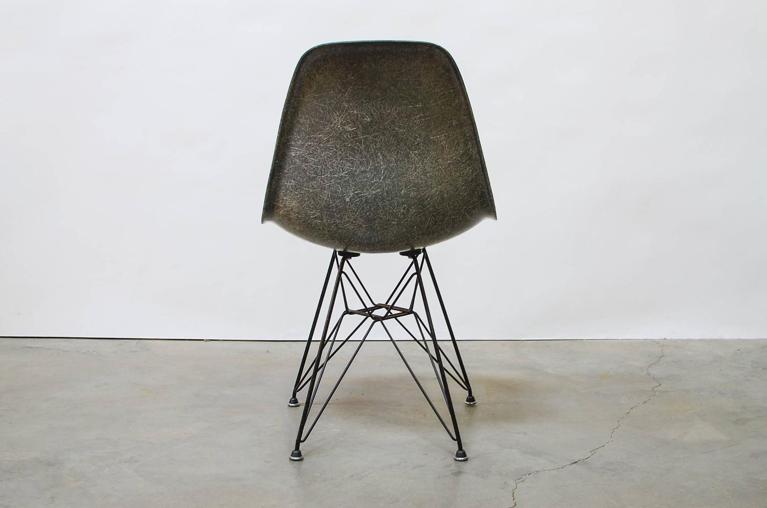 herman miller eames chair repair diy wooden rocking cushions early quotdsr quot eiffel shell for