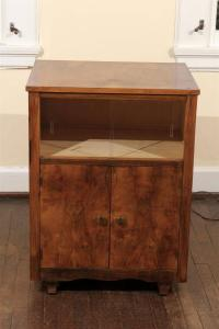 Art Deco Rosewood Rolling Bar Cabinet For Sale at 1stdibs