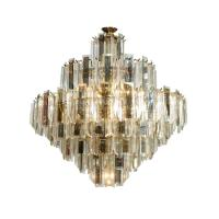 Lucite and Mirrored Glass Chandelier at 1stdibs