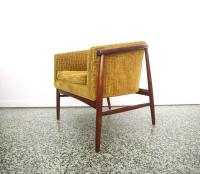 Pair of Floating Mid-Century Lounge Chairs at 1stdibs