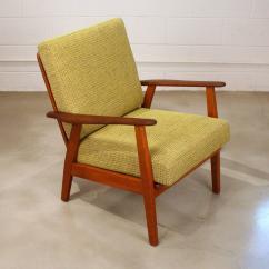 Teak Folding Chairs Canada Explorer Captains Vintage Danish Lounge Chair At 1stdibs