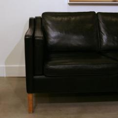 Borge Mogensen Sofa Model 2209 Bed Walmart Canada Vintage Danish Leather Three-seat At 1stdibs