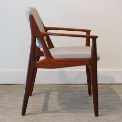 Teak Folding Chairs Canada Desk Chair Teal Vintage Danish Armchair At 1stdibs