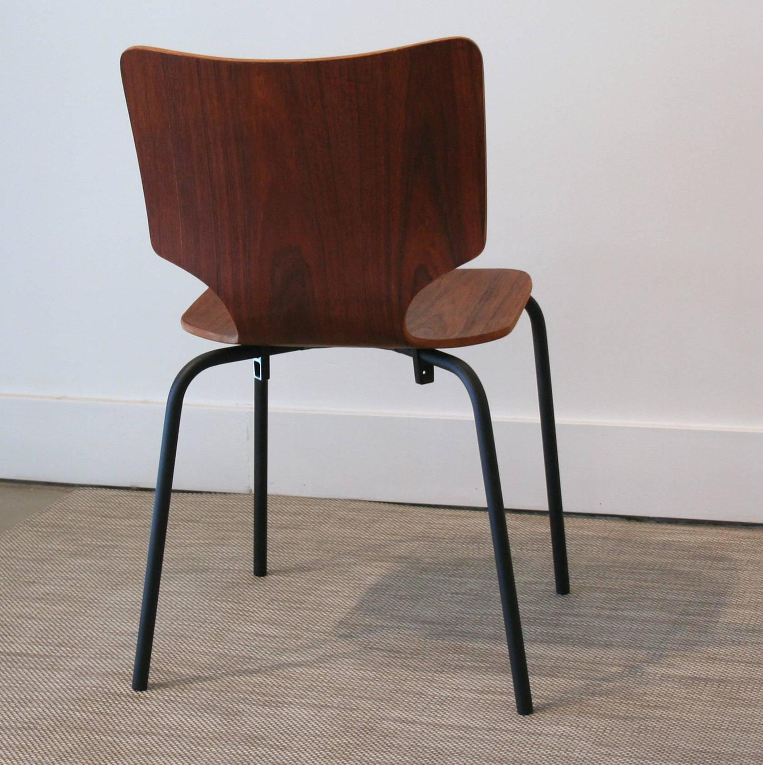 black metal and wood dining chairs cool bean bag canada vintage danish teak bent ply on matte