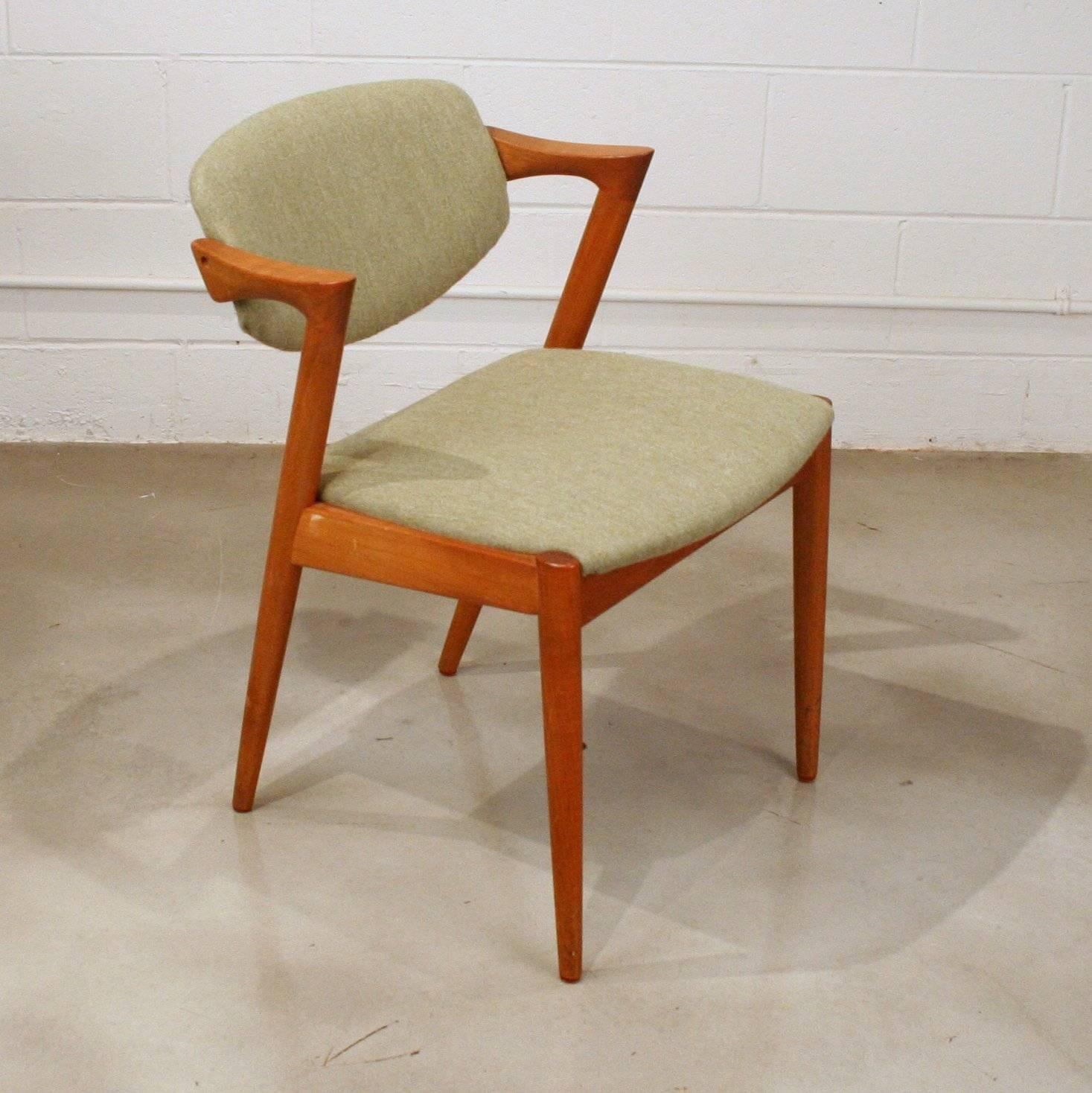 teak folding chairs canada dining chair slipcovers diy vintage danish model 42 tilt back by kai