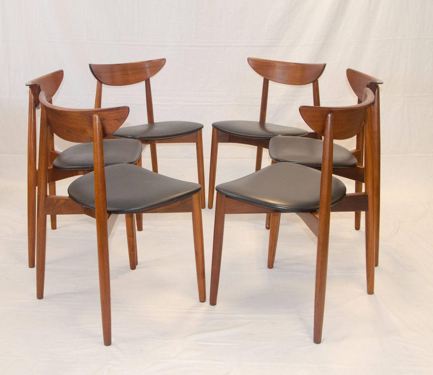 leather chair covers the best protection world market papasan set of ten teak dining chairs, harry ostergaard for moreddi sale at 1stdibs