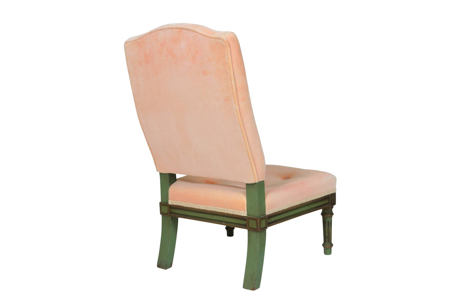 pale pink chair covers for sale port elizabeth velvet and painted wood french diminutive