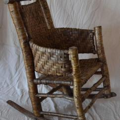 1920s Rocking Chair Ergonomic Adelaide Rustic Birch Rocker By Lee Fountain At 1stdibs