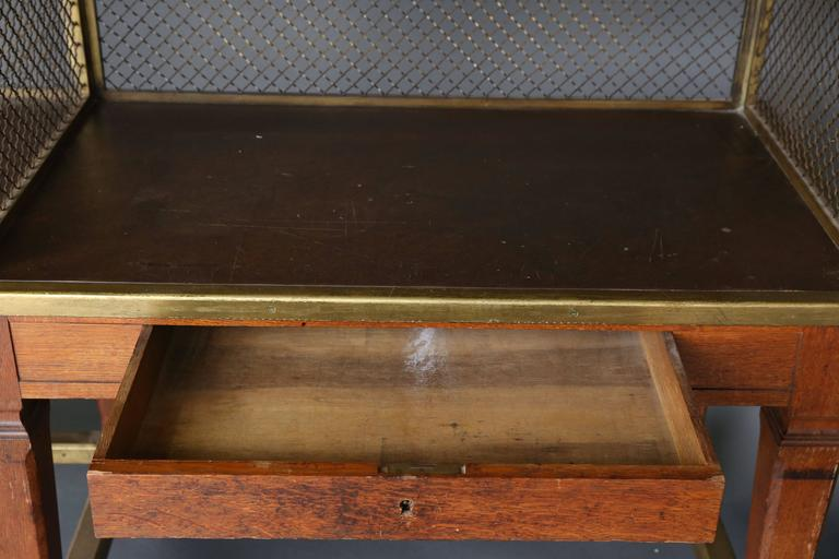 mahogany kitchen cabinets wall units 19th century bank double desk work counter at 1stdibs