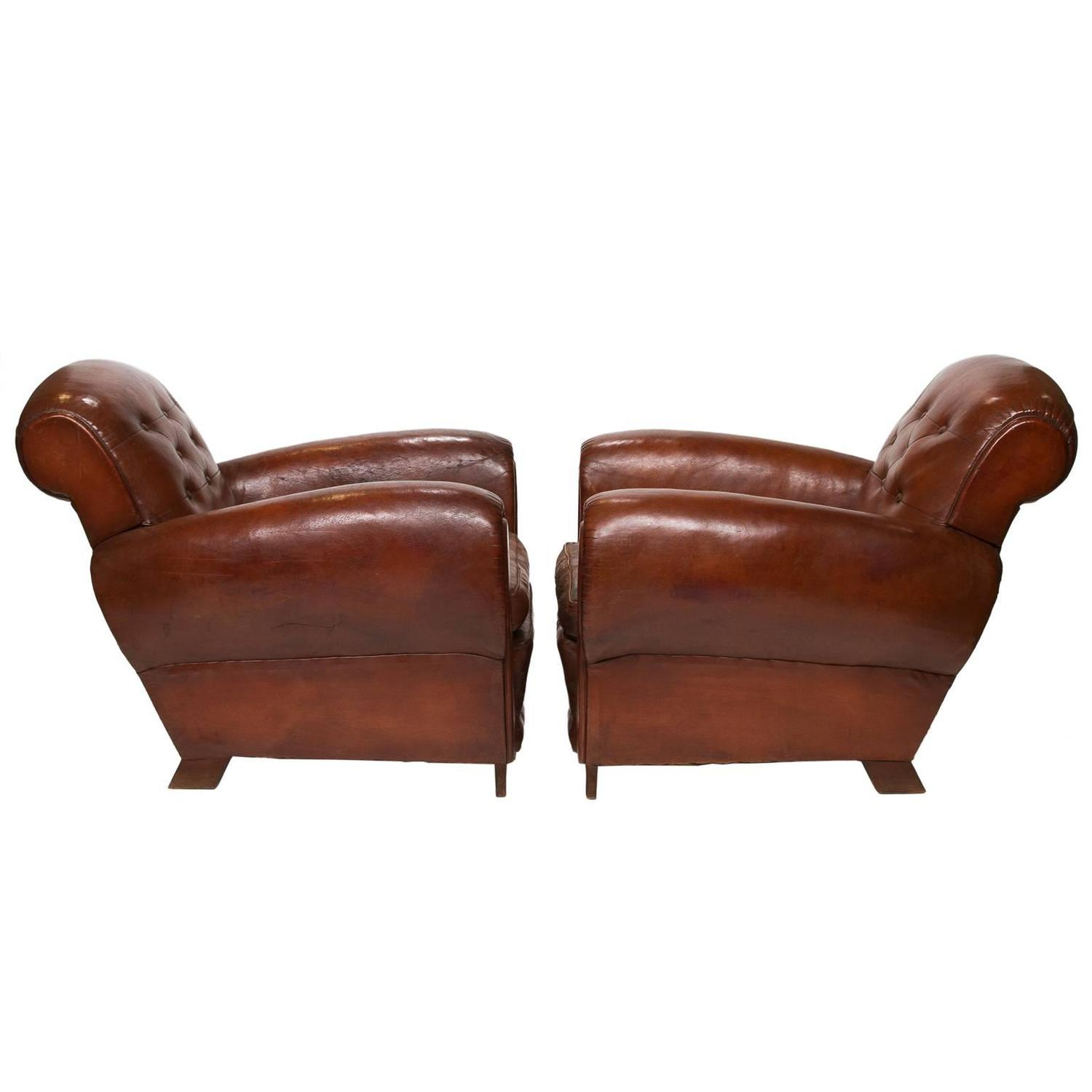 leather club chairs for sale microfiber oversized chair and ottoman french at 1stdibs