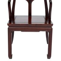 Vintage Set of Eight Mahogany Asian Inspired Armchairs For ...