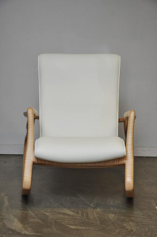 vladimir kagan rocking chair dining table and 8 sets erica with rare maple frame circa mid century modern