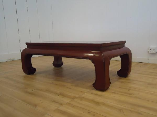 Stunning Dark Red Lacquer Chinese Coffee Table 1stdibs