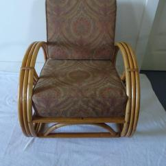 16 Round Chair Cushions Adrian Pearsall Designs Set Of Four Vintage Rattan Pretzel Chairs At 1stdibs