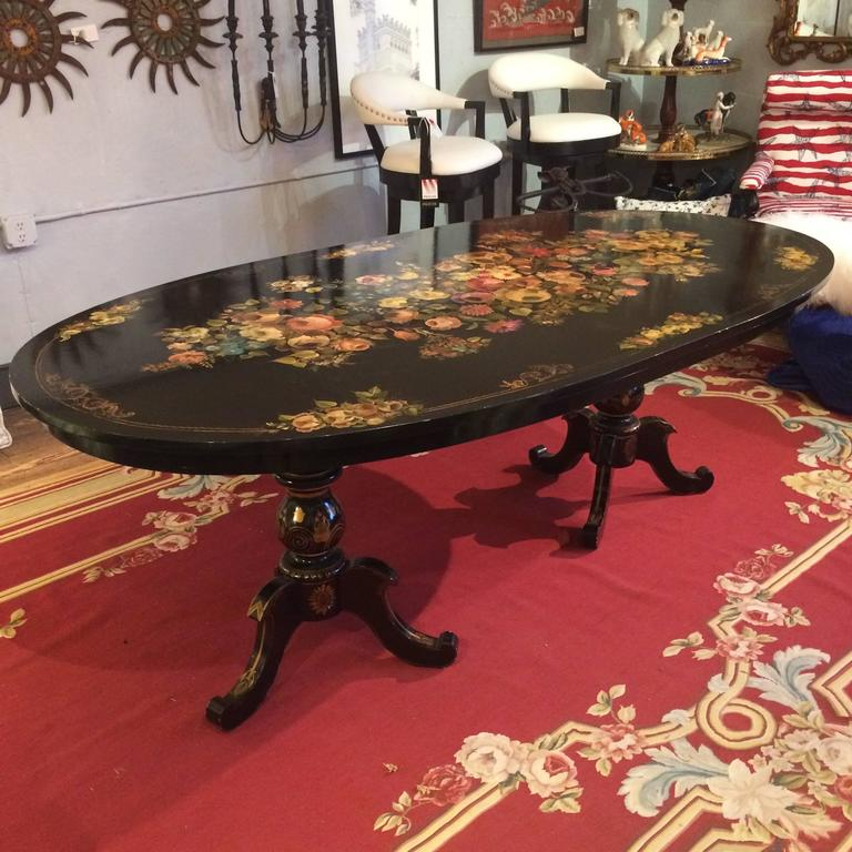 Superb HandPainted Antique Oblong Dining Set with Eight