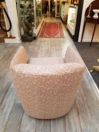 Swanky Pair of Mid-Century Modern Tub Chairs on Casters ...