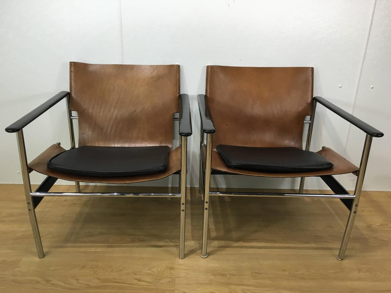 Knoll Pollock Chair Pair Of Lounge Chairs By Charles Pollock For Knoll For