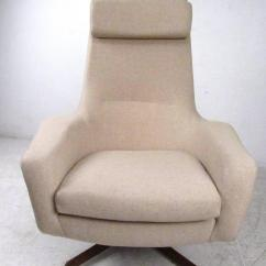 Swivel Club Chair With Ottoman Sling Beach Mid Century Adrian Pearsall Style Lounge