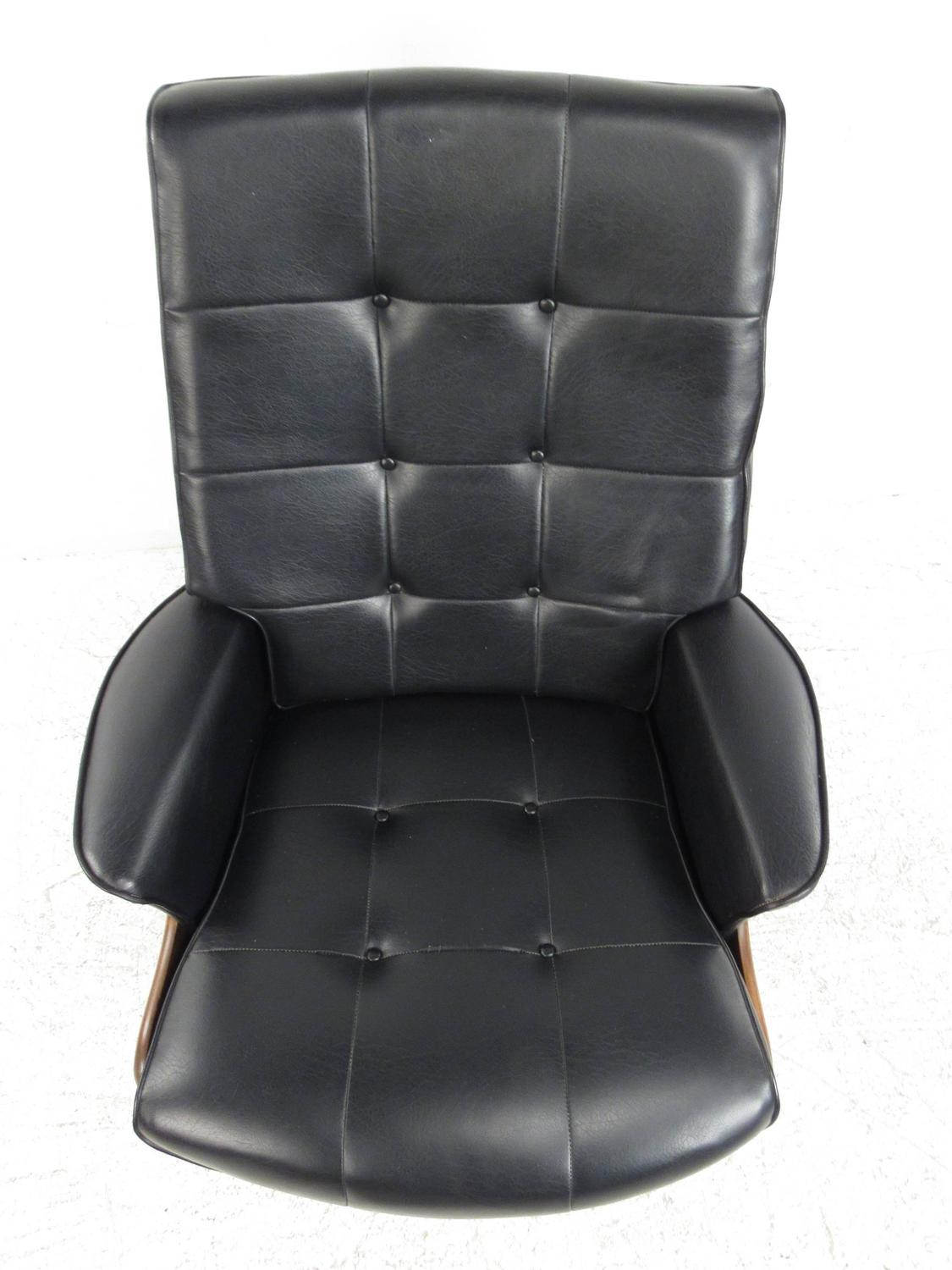 swivel club chair with ottoman how to make a cover pattern heywood wakefield lounge at 1stdibs