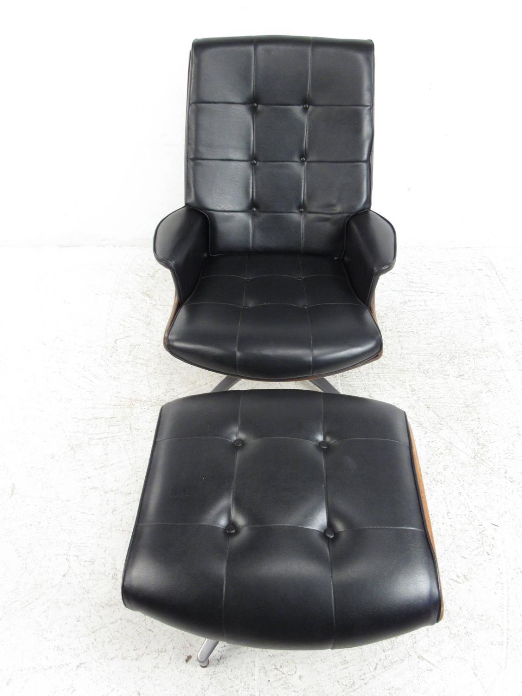swivel club chair with ottoman fuji massage heywood wakefield lounge at 1stdibs