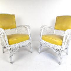 Vinyl Wicker Chairs Fixing Set Of Six Vintage And Mid Century