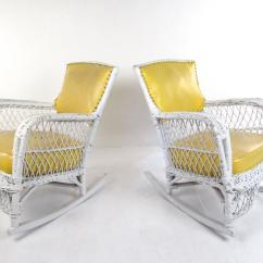 Vinyl Wicker Chairs Target Club Chair Set Of Six Vintage And Mid Century
