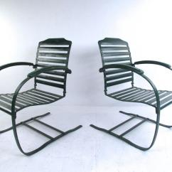 Retro Metal Patio Chairs Desk And Chair Pair Of Vintage Spring Mid Century