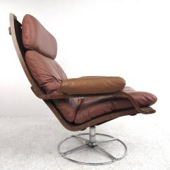 Swivel Club Chair With Ottoman Stool Cheap Vintage Leather Westnofa Style Lounge