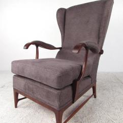 Modern Wingback Chairs For Sale Swivel Living Room Pair Of Mid Century Paolo Buffa Lounge