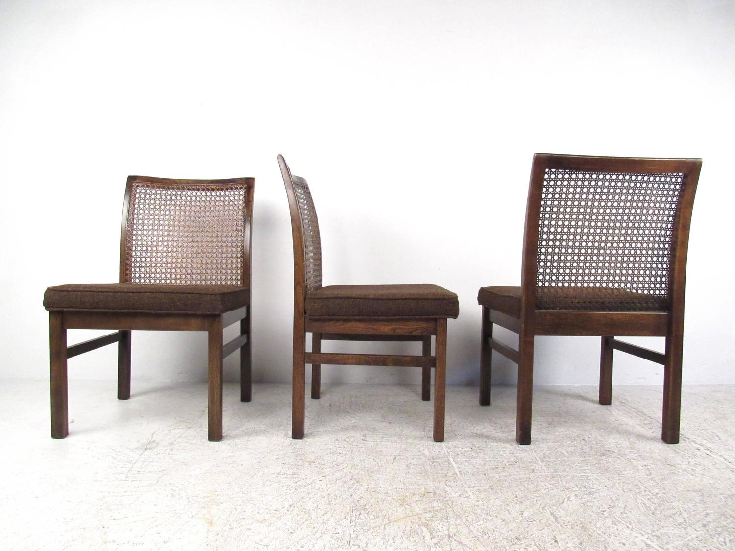 cane chairs for sale ebay used set of six mid century modern back dining by