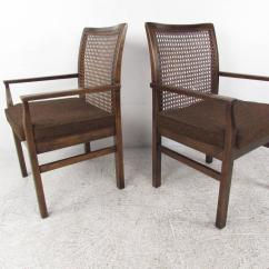 Cane Chairs For Sale Sweet 16 Chair Decorations Set Of Six Mid Century Modern Back Dining By