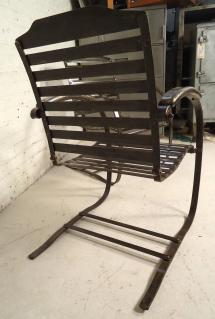 Pair Of Vintage Metal Spring Chairs 1stdibs