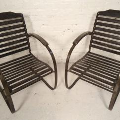 Springs For Chairs Amish Folding Adirondack Chair Plans Pair Of Vintage Metal Spring Sale At 1stdibs