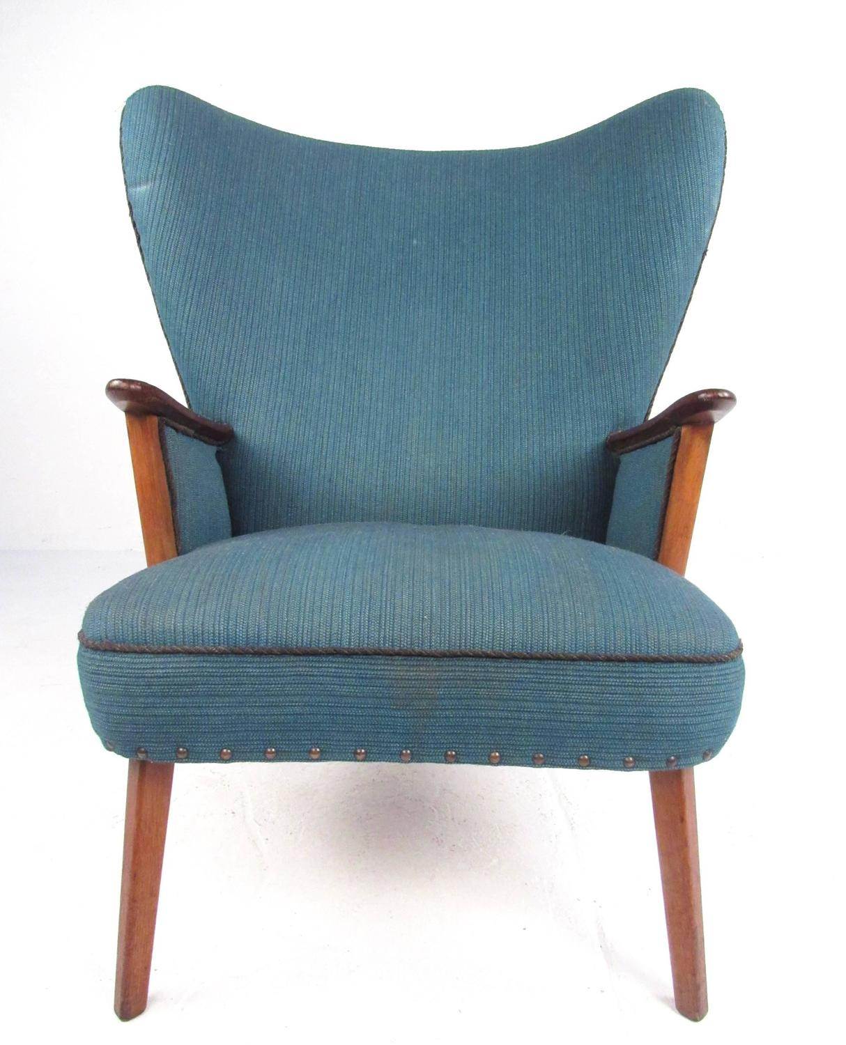 modern wingback chairs for sale wooden folding chair covers mid century lounge by madsen and