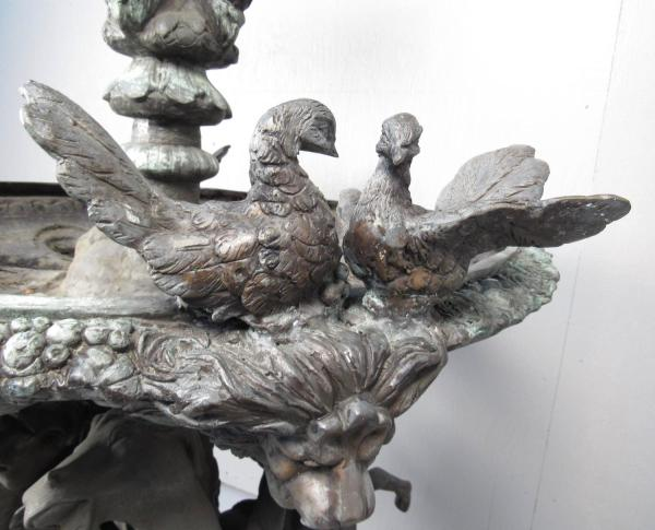 Impressive Bronze Garden Fountain With Lionhead Spout