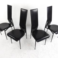 Italian Designer Dining Chairs Folding Chair Caps Set Of Contemporary Modern Leather