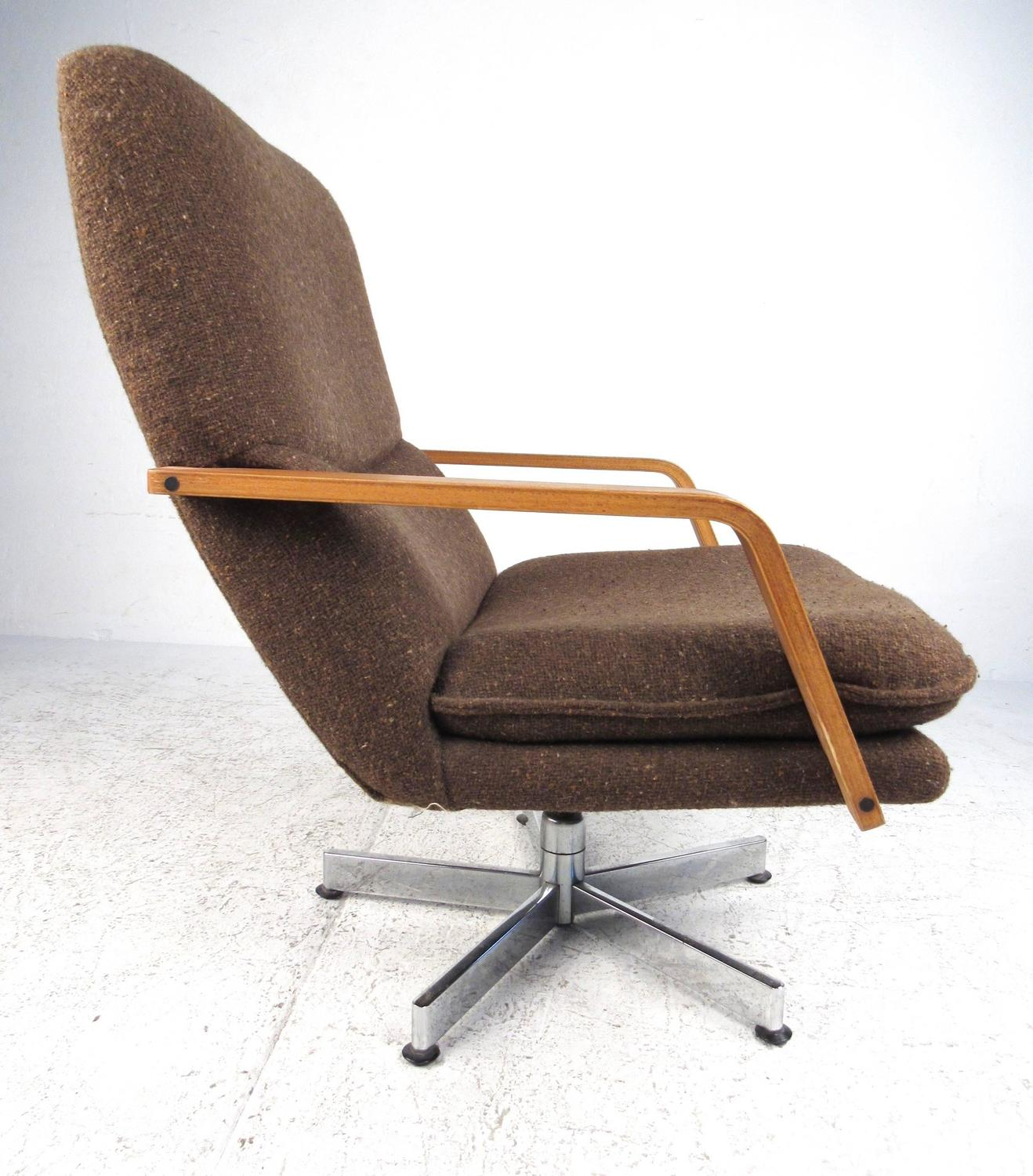 swivel club chair with ottoman folding chairs cheap mid century modern style lounge