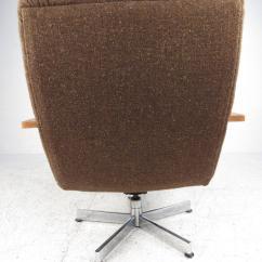 Swivel Club Chair With Ottoman Ikneadu Massage Mid Century Modern Style Lounge