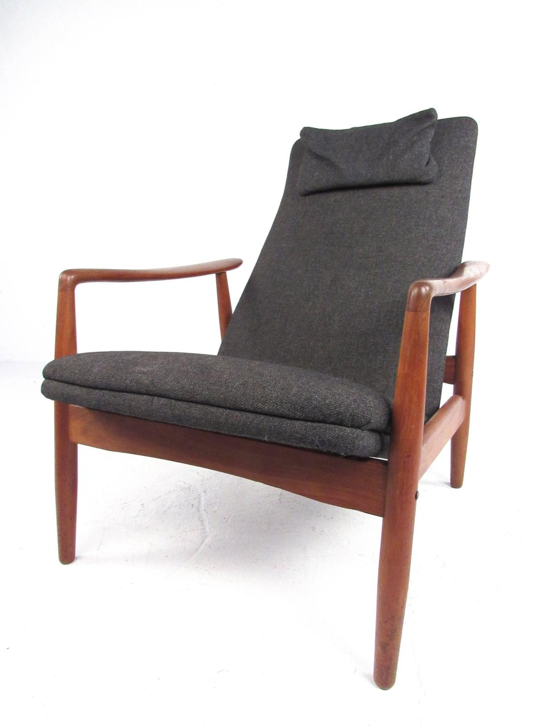 teak chaise lounge chairs sale director chair covers ebay scandinavian modern high back for