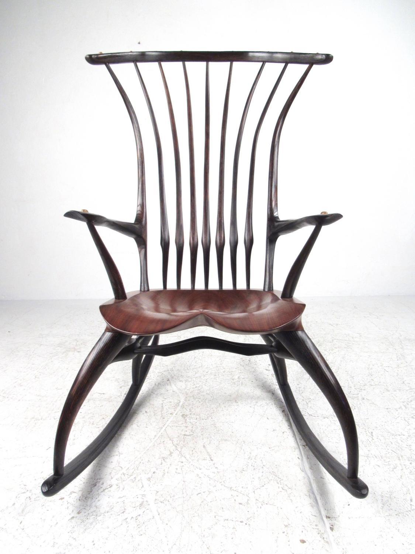 rustic rocking chair wood long design modern sculptural windsor by joe