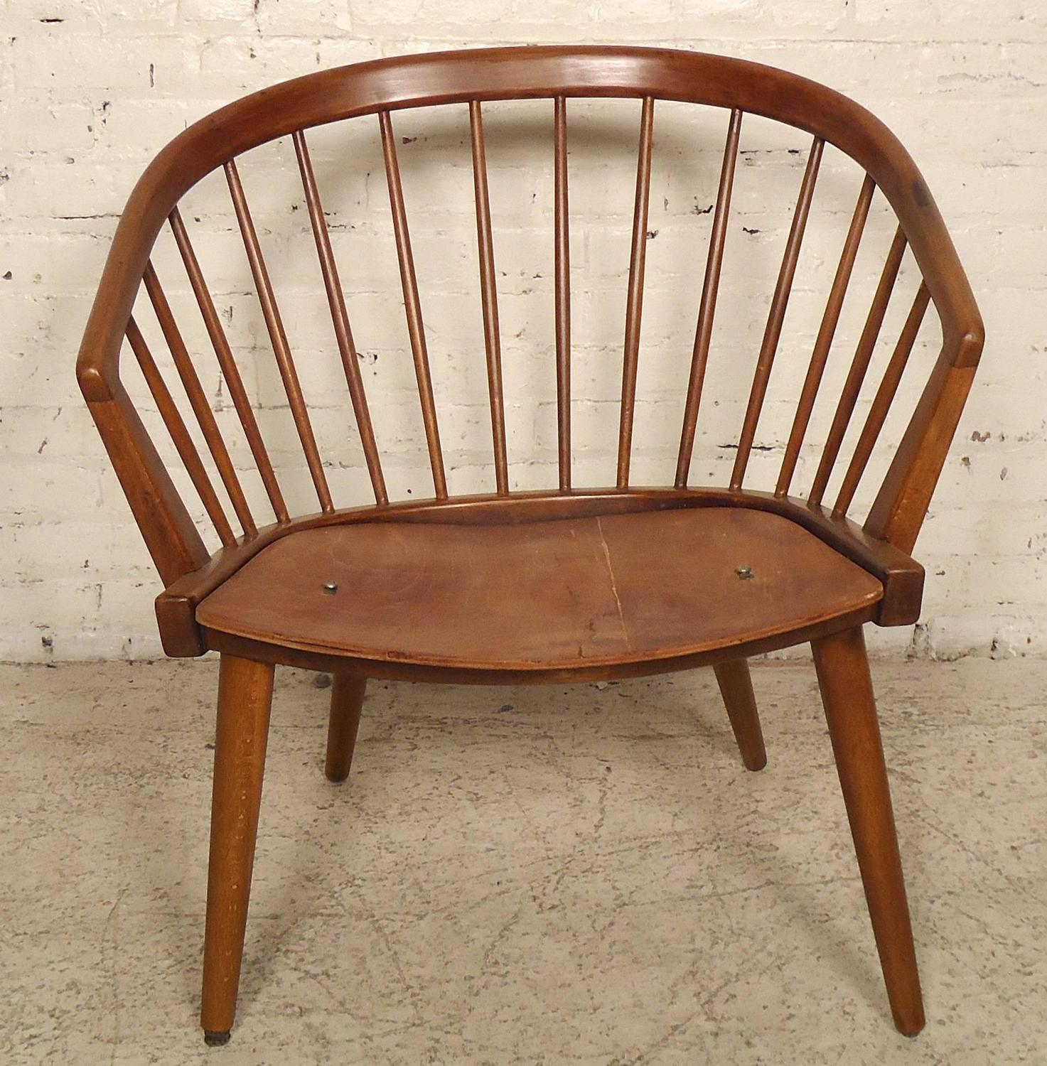 Modern Barrel Chair Danish Modern Barrel Back Chair In The Style Of Hans